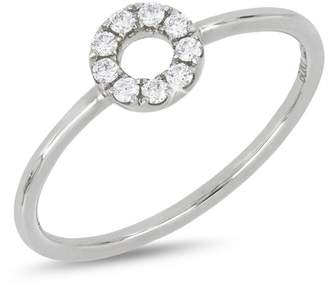 Bony Levy 18K White Gold Diamond Open Circle Ring - 0.11 ctw