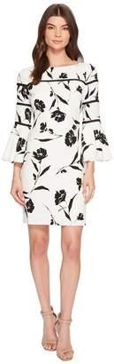 Lauren Ralph Lauren Mina Lovers Floral Stretch Crepe Dress Women's Dress