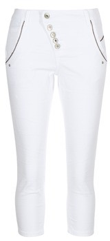 Cream WURWO women's 3/4 & 7/8 jeans in White