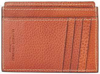 Brunello Cucinelli Leather Vertical Card Holder
