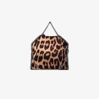 Stella McCartney brown Falabella leopard print tote bag