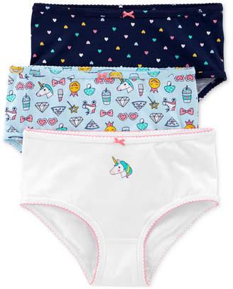 6e7579ef62 Carter s Carter Little   Big Girls 3-Pk. Unicorns Printed Underwear