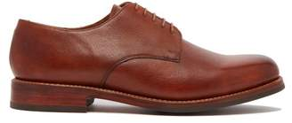Grenson Kirk Grained Leather Derby Shoes - Mens - Tan