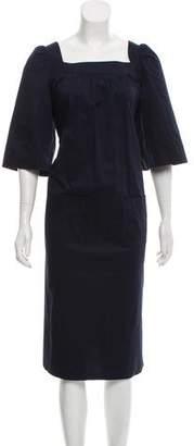 Sonia Rykiel Sonia by Three-Quarter Sleeve Midi Dress