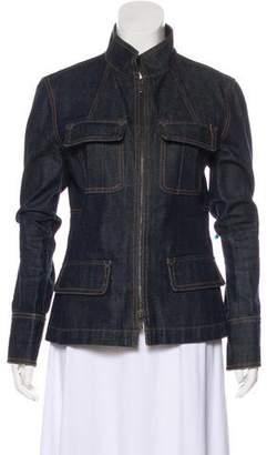 Saint Laurent Denim Stand Collar Jacket