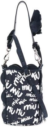Miu Miu logo bucket tote