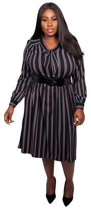 5e2045b6395 Scarlett   Jo - Multicoloured Viscose Midi Length Plus Size Jersey Dress