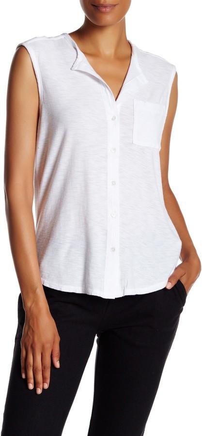 James PerseJames Perse Sleeveless Shell Shirt