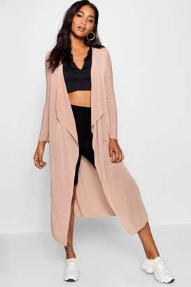 boohoo Waterfall Maxi Cardigan