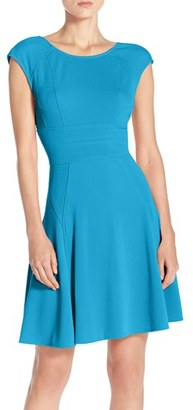 Women's Julia Jordan Cap Sleeve Fit & Flare Dress $128 thestylecure.com
