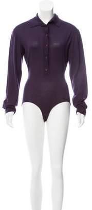Alaia Wool Woven Bodysuit