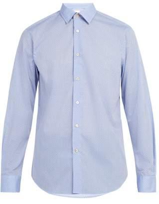 Paul Smith Geometric Pattern Cotton Shirt - Mens - Blue Multi
