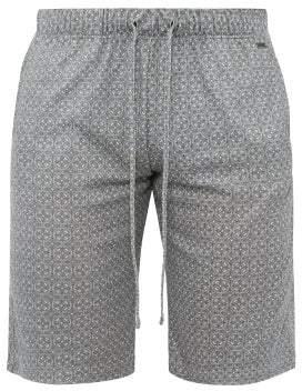Hanro Mosaic Print Cotton Pyjama Shorts - Mens - Grey Multi