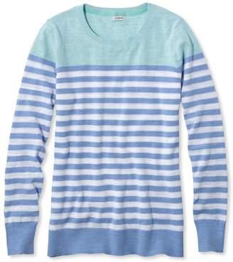 L.L. Bean L.L.Bean Cotton Slub Sweater, Pullover Stripe