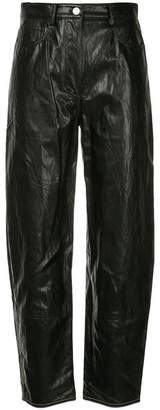 System high-wasted loose fit trousers