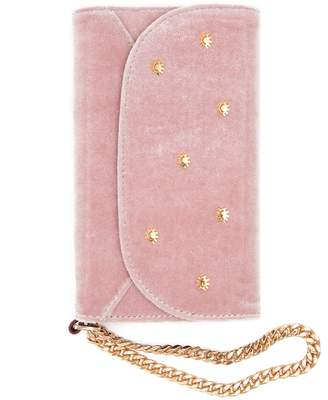 7 For All Mankind Sonix Velvet Wristlet iPhone Case in Rose