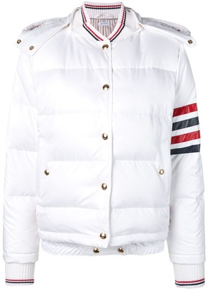 Thom Browne 4-Bar Down Hood Bomber