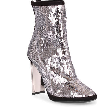 Giuseppe Zanotti Silver sequin ankle boot