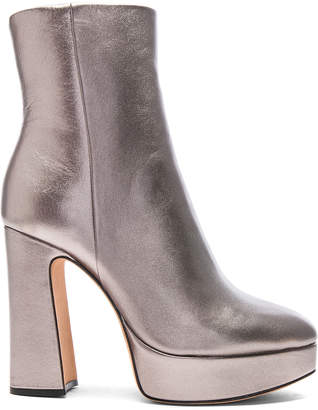 Alexandre Birman Leather Loreta Platform Boots