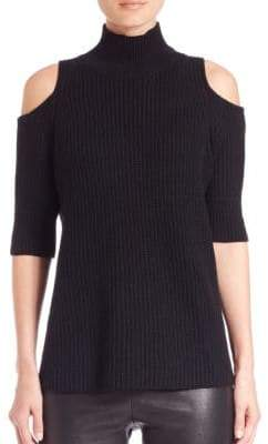 Zoe Jordan Knitlab Gondola Cold-Shoulder Turtleneck Sweater