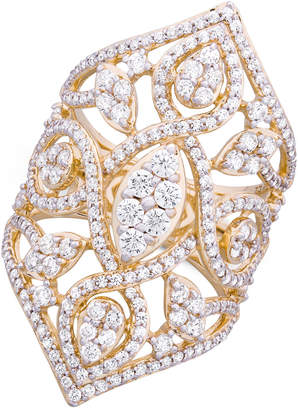 Wrapped in Love Diamond Openwork Statement Ring (2 ct. t.w.) in 14k Gold, Created for Macy's