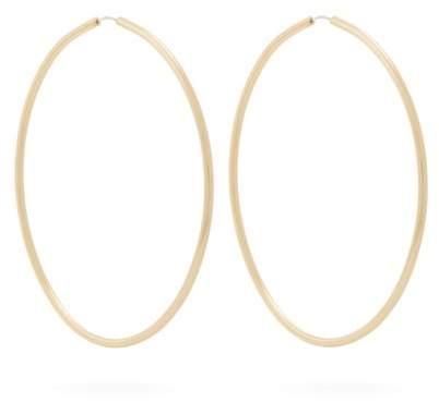 FAY ANDRADA Ovaali hoop brass earrings