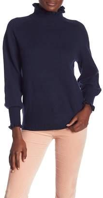 Rebecca Taylor Cozy Turtleneck Merino Wool Blend Sweater