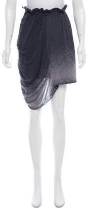Raquel Allegra Distressed Mini Skirt