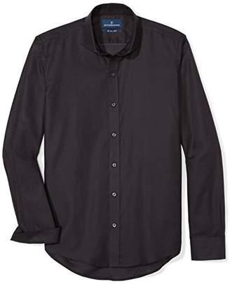 Buttoned Down Men's Slim Fit Supima Cotton Cutaway-Collar Sport Shirt