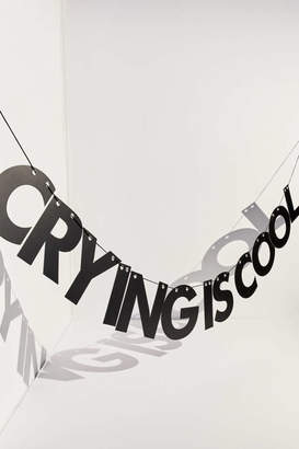 Urban Outfitters India K For Crying Is Cool Wall Art Banner