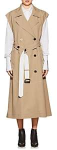 Derek Lam Women's Belted Cotton Sleeveless Double-Breasted Trench Coat - Camel