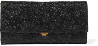 Michael Kors Collection - Yasmeen Metallic Floral-brocade Clutch - Black $790 thestylecure.com