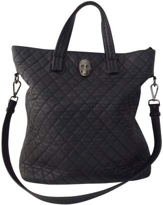Philipp Plein Black Leather Handbag