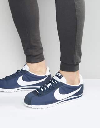size 40 7b575 80b22 Nike Classic Cortez Nylon Sneakers In Navy 807472-410