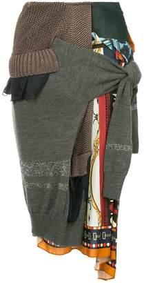 Kolor patchwork knitted skirt