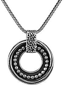Or Paz Sterling Men's Round Beaded Pendant w/ Chain