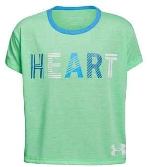 Under Armour Girl's UA Heart Short Sleeve Tee