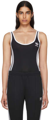 adidas Black 3-Stripes Bodysuit