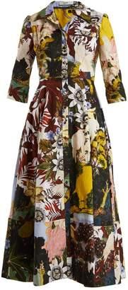 Erdem Kasia patchwork floral-print cotton shirtdress
