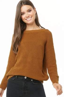 Forever 21 V-Back Ribbed Knit Sweater