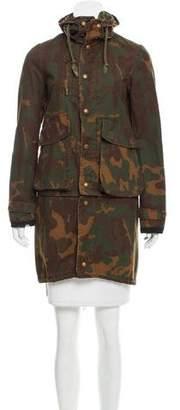 Golden Goose Hooded Camouflage Coat