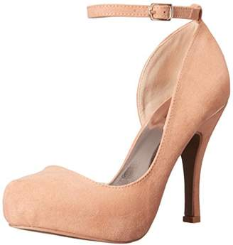 Qupid Women's Trench-330 D'Orsay Pump