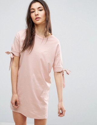 ASOS T-Shirt Dress with Bow Sleeve $28 thestylecure.com