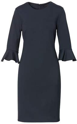 Banana Republic Ponte Flutter-Sleeve Sheath Dress