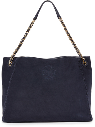 Tory Burch Marion Suede Chain Shoulder Tote $495 thestylecure.com