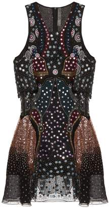 Mary Katrantzou Juno embellished silk-georgette dress