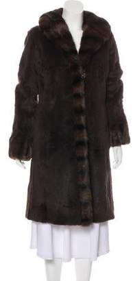 St. John Fur Knee-Length Coat