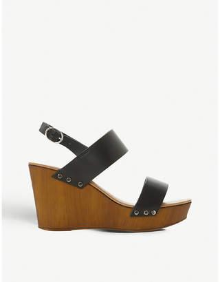 Dune Kimmey slingback platform wedge sandals