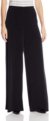 Amy Byer Women's Soft Knit Palazzo Wide Leg Knit Pant