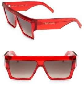 Celine 61MM Exaggerated Rectangular Sunglasses